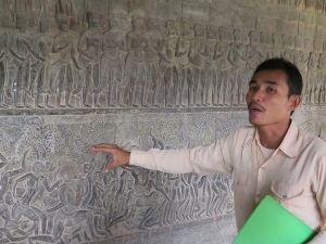 Bun telling about the reliefs