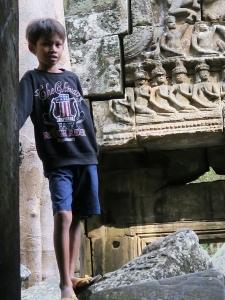 Khmer Boy at Banteay Kdei