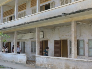 Toul Sleng Genocide Museum was once a high school