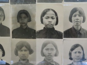 Photographs of young genocide victims