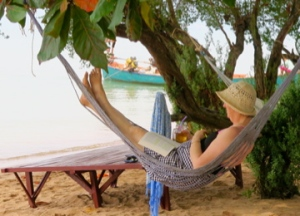 Relaxing in a hammock on Rabbit Island